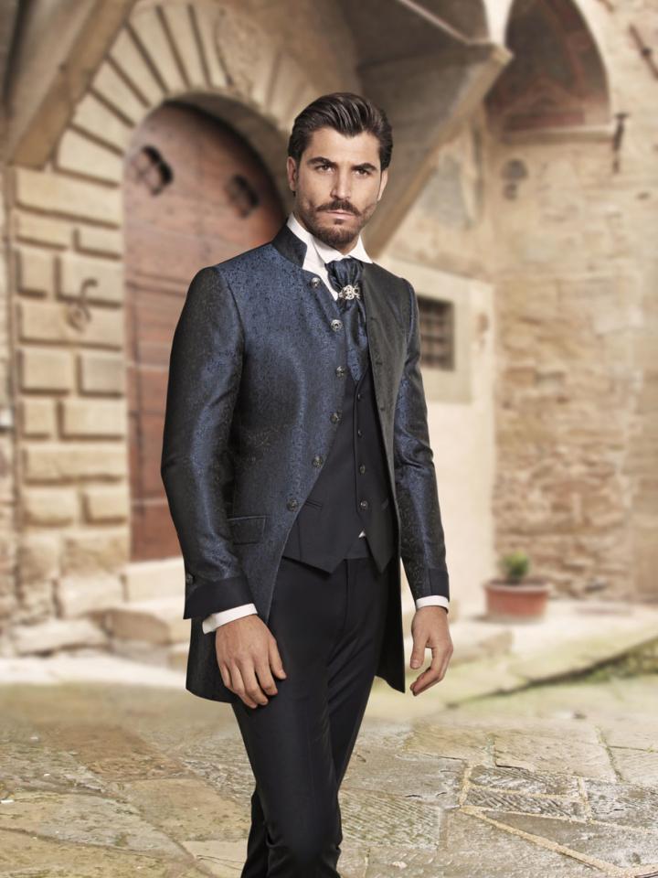 abito-sposo-vestito-cerimonia-uomo-matrimonio-damascato-collo- 6dbe79d859f